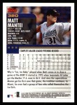 2000 Topps #320  Matt Mantei  Back Thumbnail