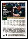 2000 Topps #349  A.J. Hinch  Back Thumbnail