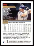 2000 Topps #375  Jeromy Burnitz  Back Thumbnail