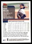 2000 Topps #409  Dave Mlicki  Back Thumbnail