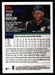 2000 Topps #426  Jose Guillen  Back Thumbnail