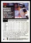 2000 Topps #13  Magglio Ordonez  Back Thumbnail