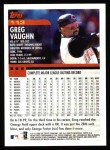 2000 Topps #113  Greg Vaughn  Back Thumbnail