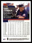 2000 Topps #118  Terry Steinbach  Back Thumbnail