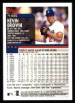 2000 Topps #145  Kevin Brown  Back Thumbnail