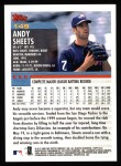 2000 Topps #149  Andy Sheets  Back Thumbnail