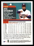 2000 Topps #152  Jose Offerman  Back Thumbnail