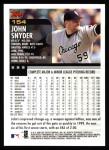 2000 Topps #154  John Snyder  Back Thumbnail