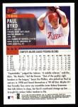 2000 Topps #166  Paul Byrd  Back Thumbnail