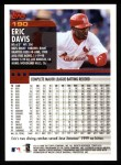 2000 Topps #190  Eric Davis  Back Thumbnail