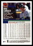2000 Topps #200  Jose Canseco  Back Thumbnail