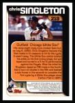2000 Topps #219   -  Chris Singleton  Highlights Back Thumbnail