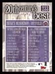 2000 Topps #233   -  Rickey Henderson 20th Century's Best Back Thumbnail