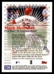 2000 Topps #236 E  -  Mark McGwire Magic Moments Back Thumbnail