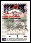 2000 Topps #236 D  -  Mark McGwire Magic Moments Back Thumbnail