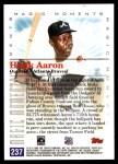 2000 Topps #237 D  -  Hank Aaron Magic Moments Back Thumbnail
