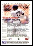 2000 Topps #240 E  -  Tony Gwynn Magic Moments Back Thumbnail