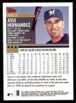 2000 Topps #353  Jose Hernandez  Back Thumbnail