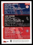 2000 Topps #443  Mike Lamb / Joe Crede  Back Thumbnail