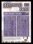 2000 Topps #473   -  John Franco 20th Century's Best Back Thumbnail
