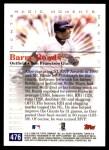 2000 Topps #476 C  -  Barry Bonds Magic Moments Back Thumbnail