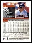 2000 Topps #76  Brent Mayne  Back Thumbnail