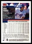 2000 Topps #77  Jose Vidro  Back Thumbnail
