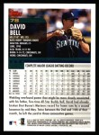 2000 Topps #78  David Bell  Back Thumbnail