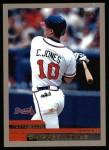 2000 Topps #180  Chipper Jones  Front Thumbnail