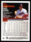 2000 Topps #182  Dave Burba  Back Thumbnail