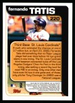 2000 Topps #220   -  Fernando Tatis  Highlights Back Thumbnail