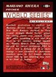 2000 Topps #228   -  Mariano Rivera World Series Back Thumbnail
