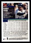 2000 Topps #247  Randy Winn  Back Thumbnail