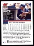 2000 Topps #262  Matt Lawton  Back Thumbnail