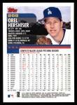 2000 Topps #268  Orel Hershiser  Back Thumbnail