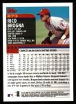 2000 Topps #273  Rico Brogna  Back Thumbnail