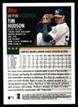 2000 Topps #275  Tim Hudson  Back Thumbnail