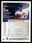 2000 Topps #280  Al Leiter  Back Thumbnail