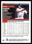 2000 Topps #332  Darren Lewis  Back Thumbnail