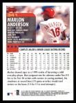 2000 Topps #341  Marlon Anderson  Back Thumbnail