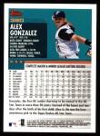 2000 Topps #380  Alex Gonzalez  Back Thumbnail