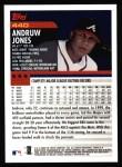 2000 Topps #440  Andruw Jones  Back Thumbnail