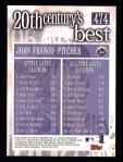2000 Topps #474   -  John Franco 20th Century's Best Back Thumbnail