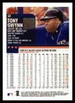 2000 Topps #2  Tony Gwynn  Back Thumbnail