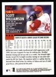 2000 Topps #151  Scott Williamson  Back Thumbnail