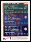 2000 Topps #204   -  Erubial Durazo / Pat Burrell / Nick Johnson Draft Picks Back Thumbnail