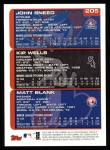 2000 Topps #205   -  John Sneed / Kip Wells Draft Picks Back Thumbnail