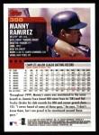 2000 Topps #398  Manny Ramirez  Back Thumbnail