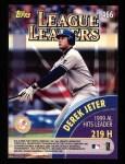 2000 Topps #466   -  Derek Jeter / L.Gonzalez League Leaders Back Thumbnail