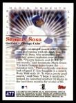 2000 Topps #477 A  -  Sammy Sosa Magic Moments Back Thumbnail